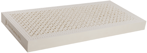 The AIR mattress is unique and is made of 100 % natural latex. Continuous air channels ensure a permanent air circulation