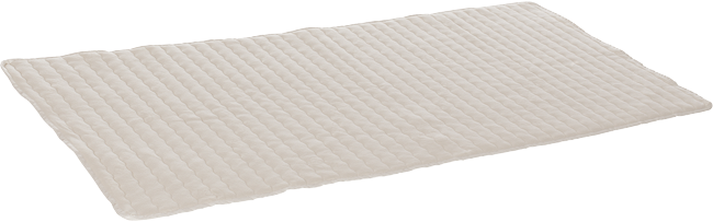The innovative fabric of this mattress topper consists of 70 % lyocell (Tencel) and 30 % pure new wool.