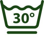 Bei 30°C schonend waschen (schonendes Schleudern)